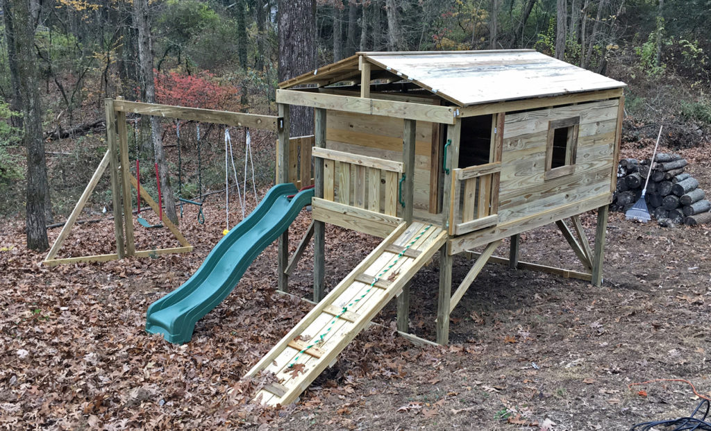 $3425.00  8x10 standard height,ramp,swing,trapeze,childseat
