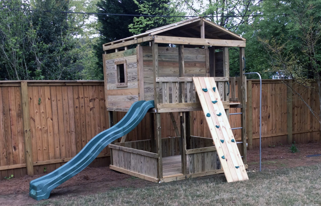 $3575.00 8x8 hops up,rock wall,fire pole, bottom has a floor and wallboards.