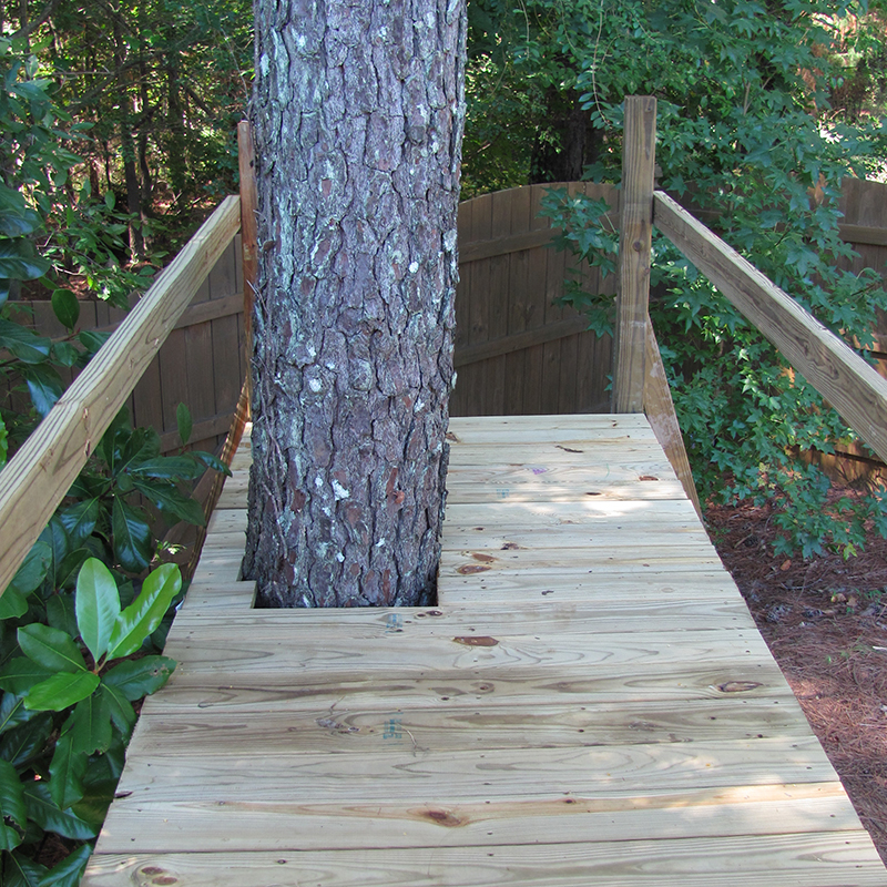Bridge Around A Tree<br>(wall boards may be added)<br>Price varies.
