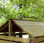 Wooden Roof<br>4x4 for $200<br>4x6 for $300<br>4x8 for $350<br>6x6 for $400<br>6x8 for $500<br>8x8 for $600