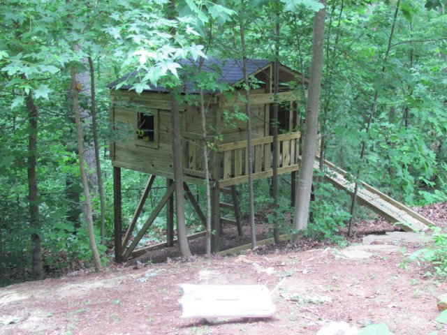 8x8 model as shown $2650 including Shingled roof, Trap Door with Wooden Ladder, Wooden Ramp with Rope, and Binoculars