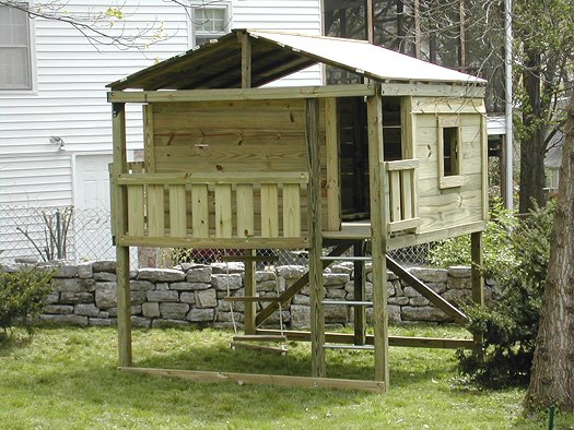 8x8 model as shown $2250 including Trap Door with Rope Ladder, No Slide