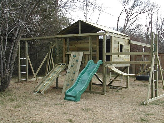8x8 model as shown $4350 including Trap Door with Rope Ladder, Tire Swing, Monkey Bars and More