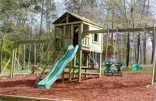 6x6 model as shown $3375 including HOP's UPgrade, Swingbeams, Wooden Picnic Table, and Wooden Steps with Handrails