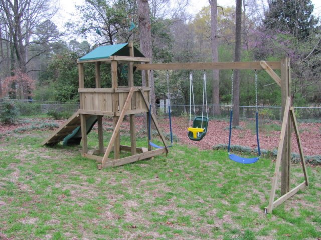 4x4 model as shown $1075 including Sandbox, Ramp with Rope, Soft Grip Swings, and Childseat