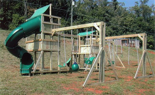 4x6 Eagle's Nest and 4x6 Jungle House models as shown $3950 including Monkey Bars