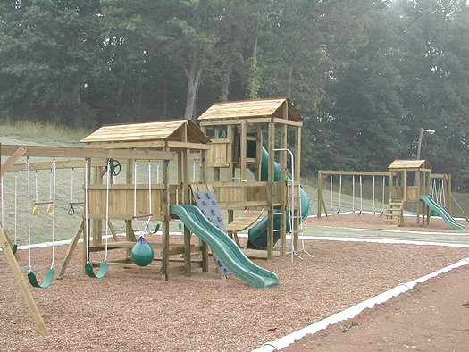 4x6 Eagle's Nest and 4x6 Jungle House models as shown $4900 including Swinging Rope Bridge