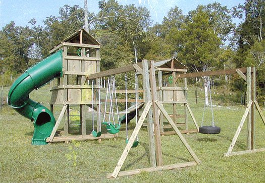 4x6 Eagle's Nest and 4x6 Jungle House models as shown $4025 including Swinging Rope Bridge
