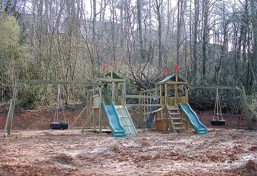 4x4 Jungle House and 4x4 Fox's Den models as shown $2975 including Swinging Rope Bridge